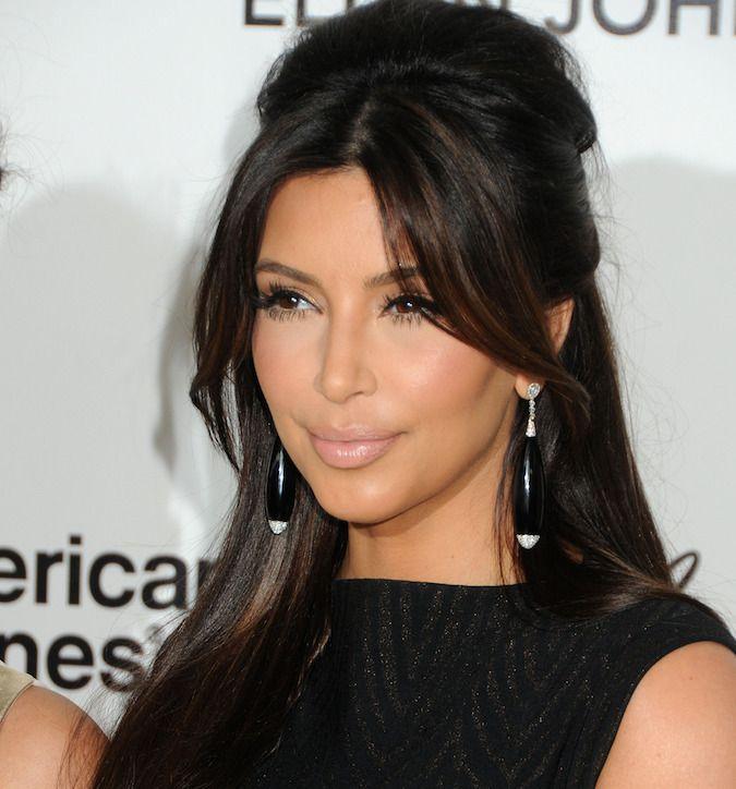 Kim Kardashian Half Up Beehive