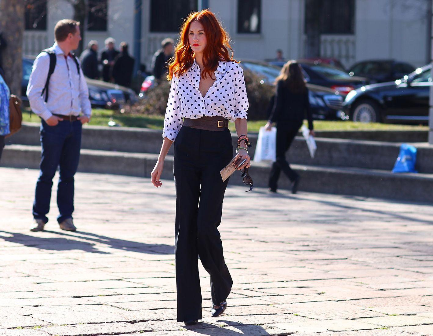 taylor-tomasi-hill-fall-2012-fashion-week-street-style-2 #dottedshirt