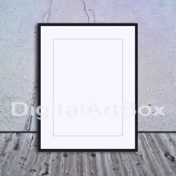 A3 Vertical Black Frame Mockup A1A5 Frame by DigitalArtBox on Etsy ...