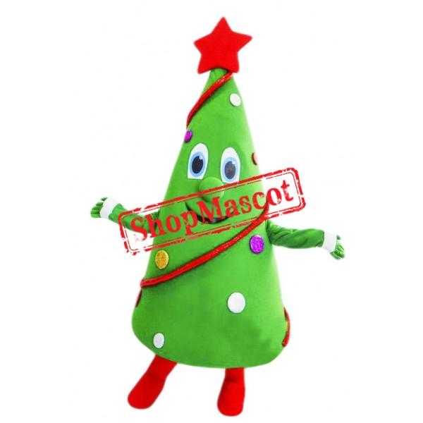 Happy Lightweight Christmas Tree Mascot Costume Mascot Costumes Cartoon Mascot Costumes Mascot