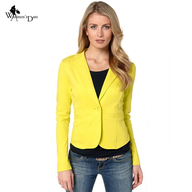 7f852ba1080 WomensDate New Women Blazer Spring Slim Top Elegant Single Button Short  Design Plus Size Blazer Suit