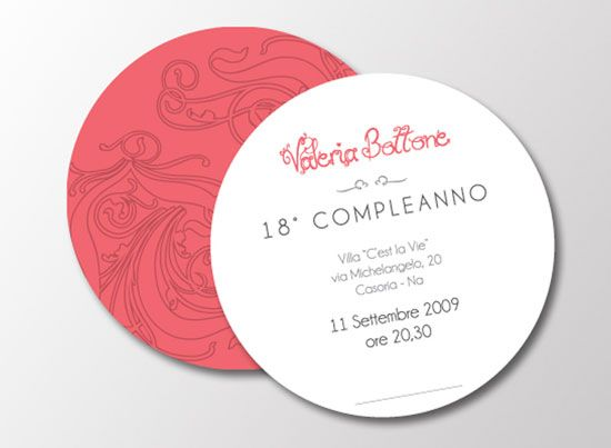 unique use circle business cards birthday invitation so creative - Circle Business Cards