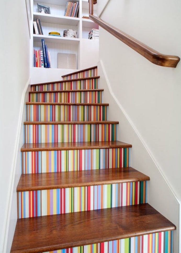 ▷ 1001 + techniques et idées pour relooker un escalier à moindre