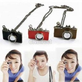$1.20 New Fashion 1pcs Antique Style Camera Necklace Coat Chain