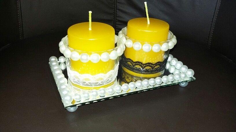 Porta velas feitos por mim.