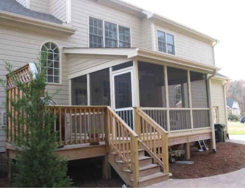Enclosed decks and sunrooms patios decks outdoor for Enclosed porches and sunrooms
