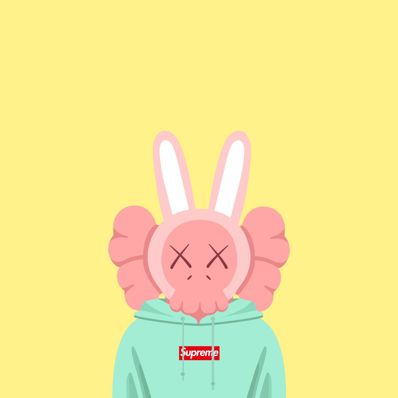 Tedison 2015 Kaws X Supreme Kaws Wallpaper Kaws Iphone
