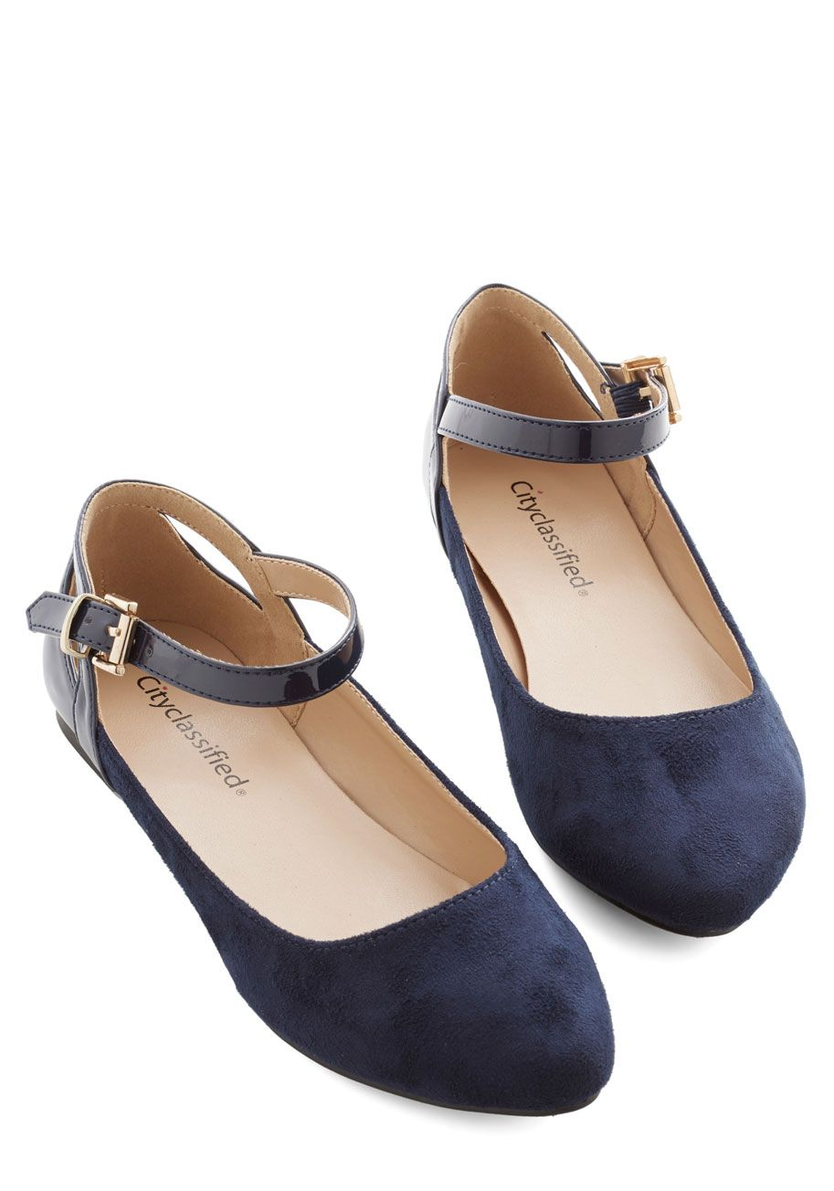 0f2a345868c1 Ready to Impress Flat in Navy. Ensure that youre dressed to impress from  head to toe by buckling these navy flats underneath your floral sheath!