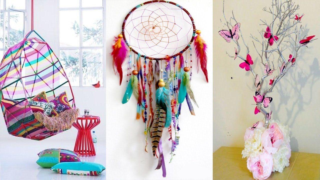 DIY ROOM DECOR! 25 Easy Crafts Ideas at Home | Crafts | Pinterest ...