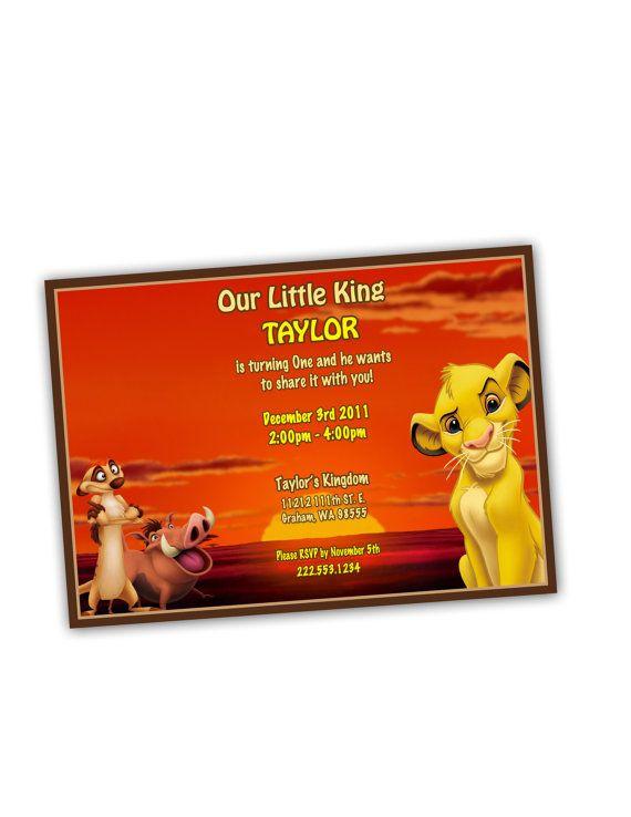 Sunset Lion King Birthday Party Invitation Birthday Parties