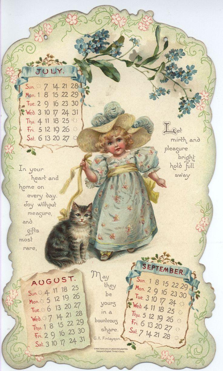 Картинки старинные календари