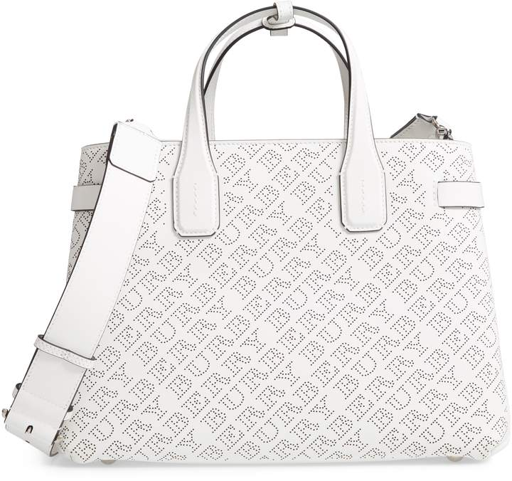 bd6b74ddd3b6 Burberry Perforated Medium Banner Leather Tote