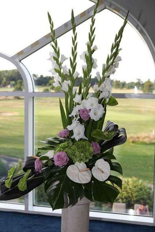 49 Marvelous Rose Arrangement Ideas For Your Girlfriend Large Flower Arrangements Church Flower Arrangements White Flower Arrangements