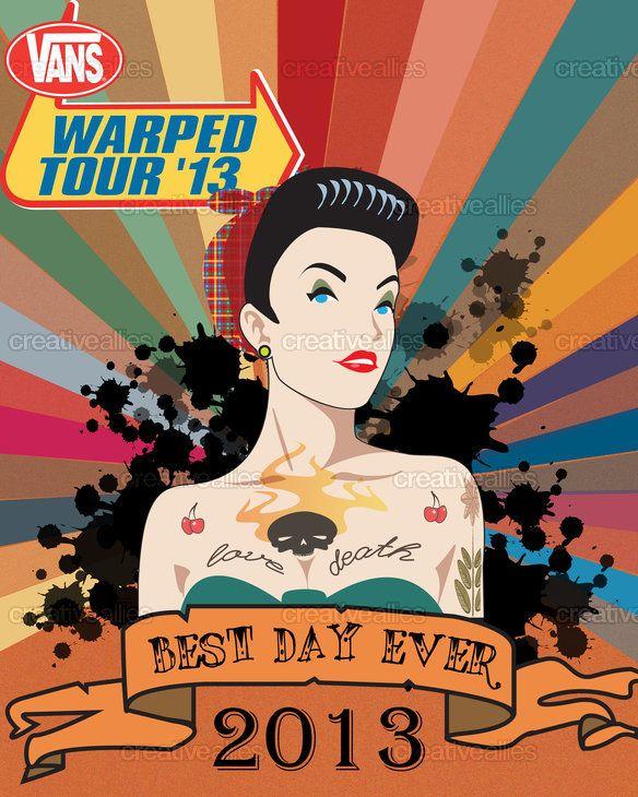 1e2d79347e Vans Warped Tour Poster by Andre on CreativeAllies.com