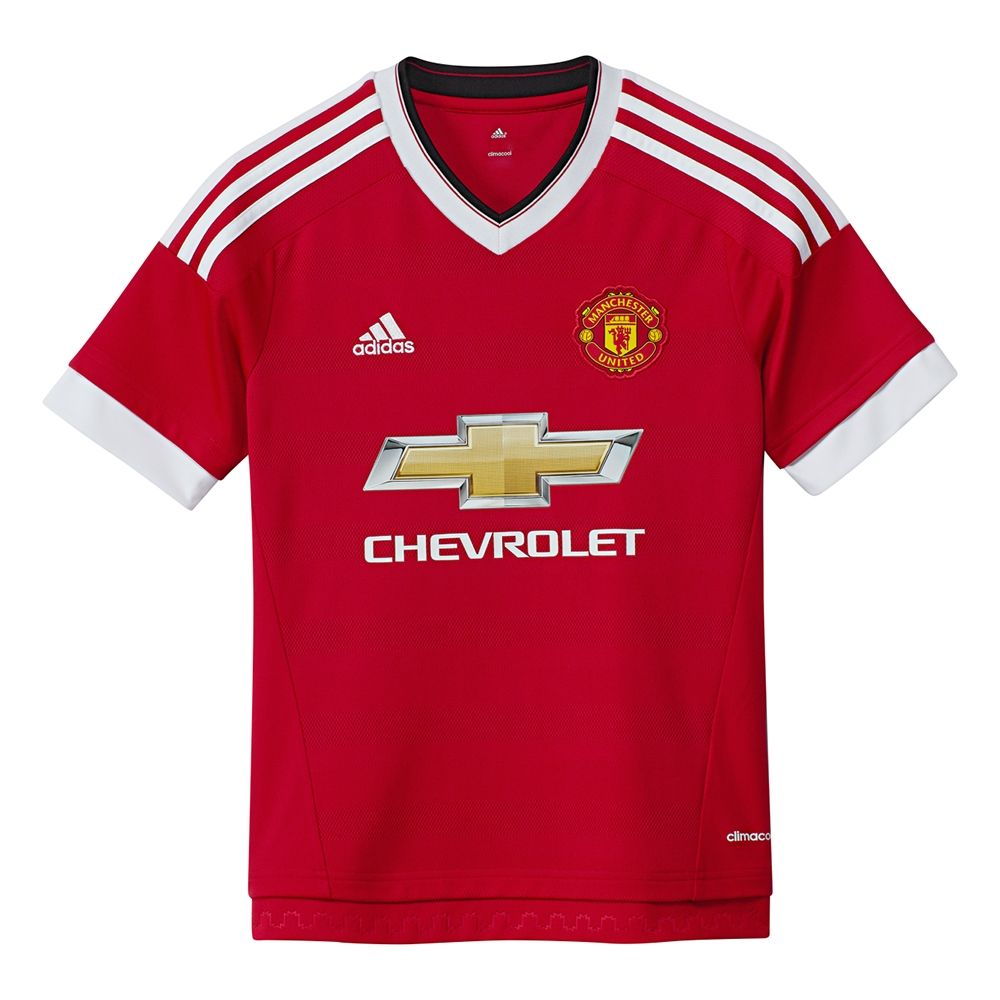 adidas manchester united youth home 15 16 soccer jersey real red white black ac1418 adidas manchester united jersey soccercorner