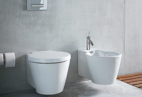 Accessori Bagno Philippe Starck.Philippe Starck Duravit Starck 1 Wall Wc Servizi Igienici Moderni Bagno In Cemento Arredo Bagno Moderno