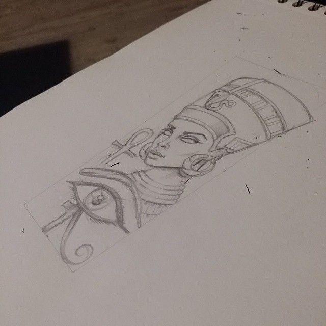 queen nefertiti tattoo design attoos pinterest desenhos tatuagens e egito. Black Bedroom Furniture Sets. Home Design Ideas