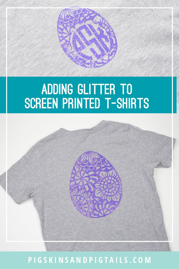 Glitter Screen Printed TShirts Diy screen printing