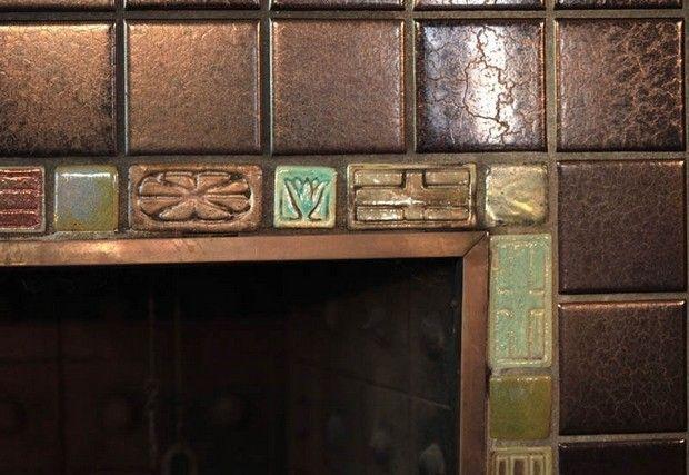 Fireplace Surrounds Fireplace Tile Surround Pewabic Pottery Fireplace Surrounds