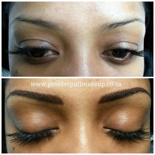 Hairstroke eyebrow tattoo #powderpuffmakeup #permanentmakeup #capetown www.powderpuffmakeup.co.za