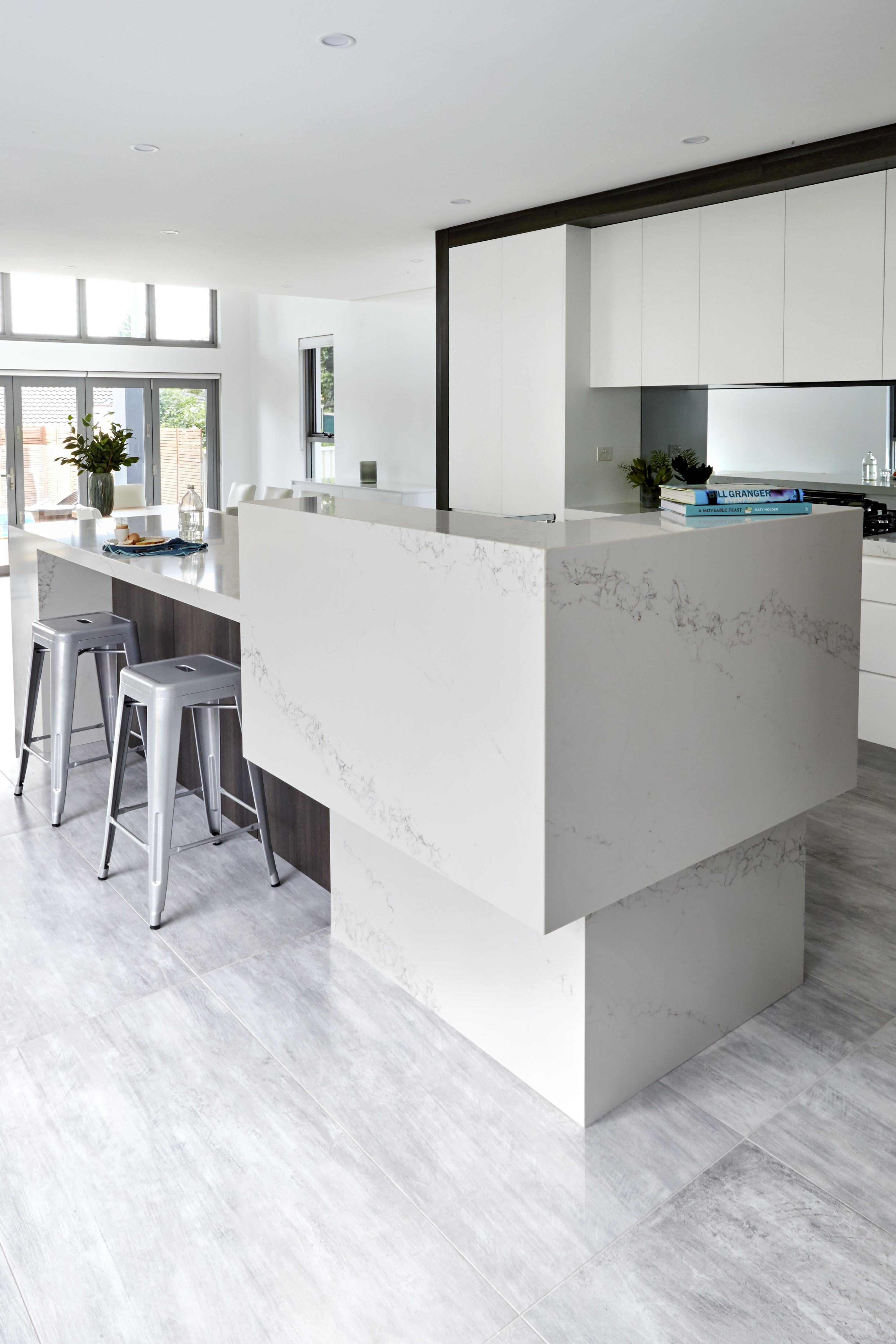 Best Quantum Quartz Engineered Stone Benchtop White Grey 400 x 300