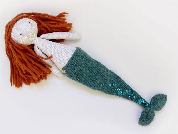 Puppe Meerjungfrau Häkeln Amigurumi Von Latiendadecosecosi Auf Etsy