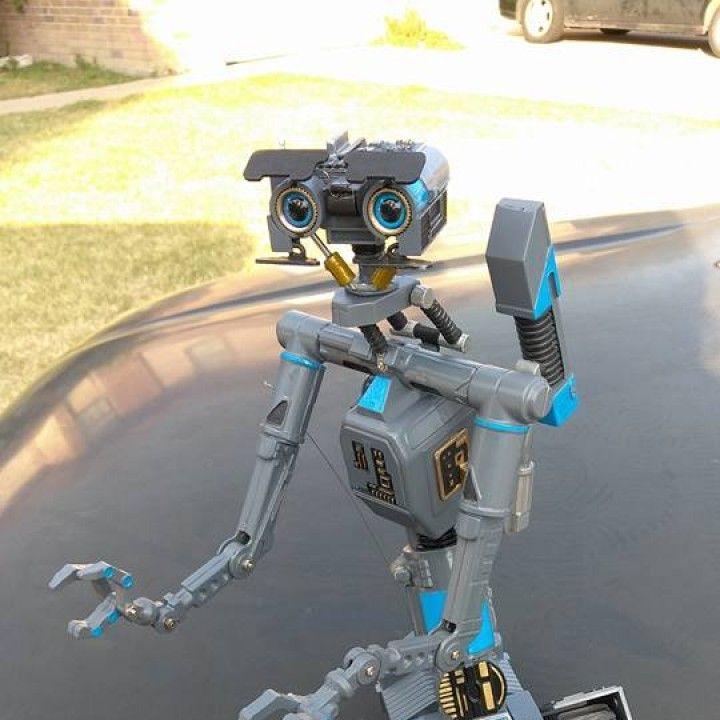 3d printable johnny 5 robot from short circuit film by brandon block rh pinterest com