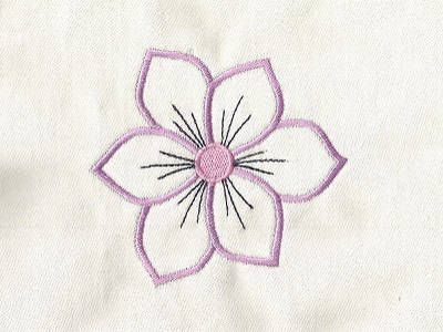 Flower Power Outlines Machine Embroidery Designs Httpwww
