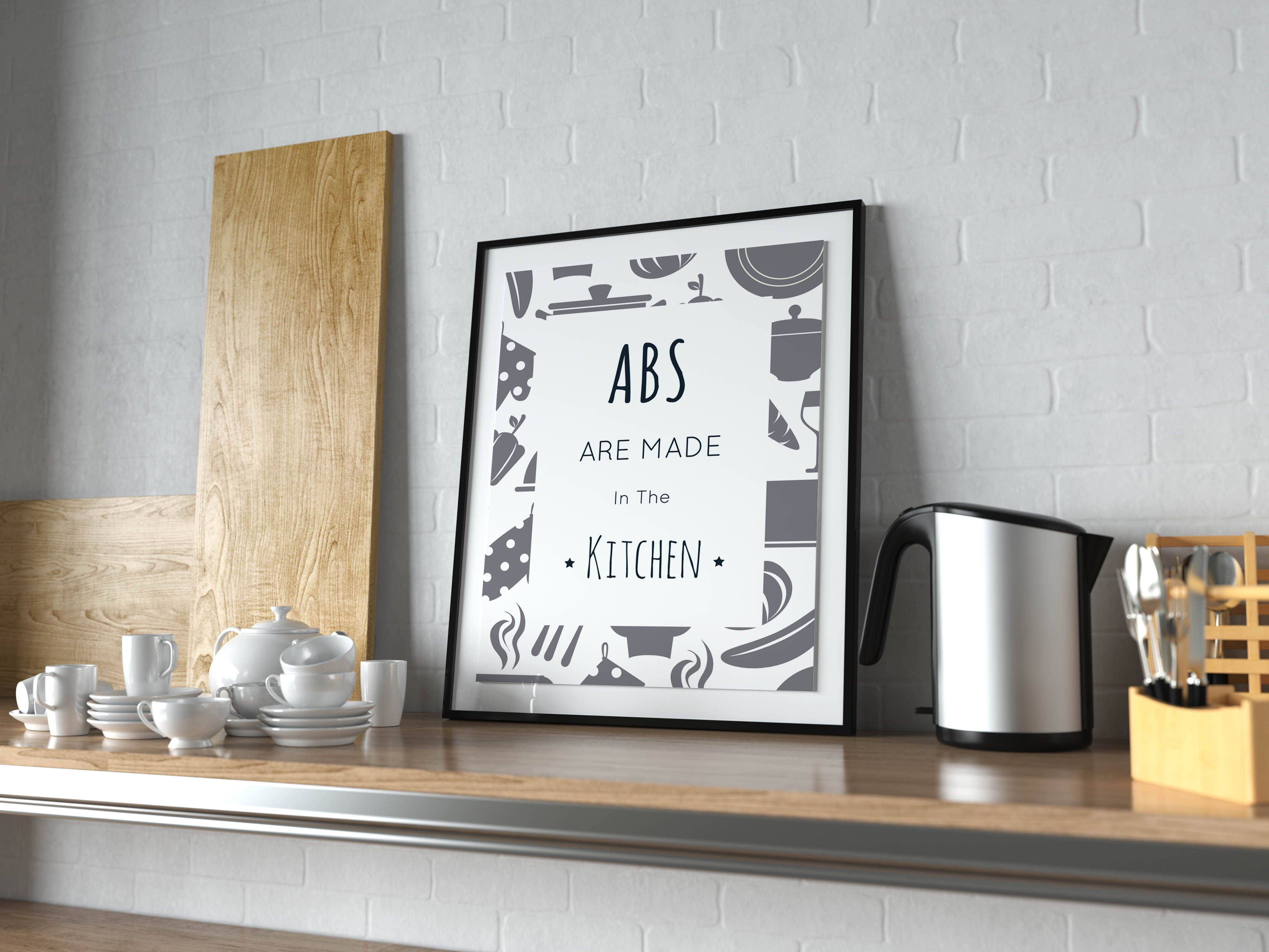 Abs are made in the kitchen wall art printable wall art for