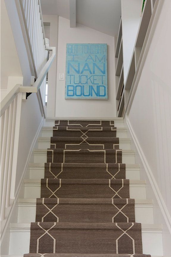 Best In Town House Coastal Nantucket Stairs Stair Runner Townhouse 400 x 300