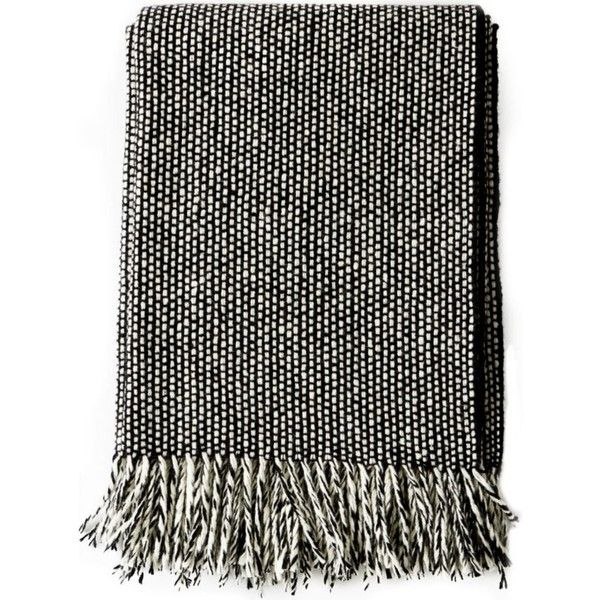 Mourne Textiles Tweed Emphasis II wool blanket ($205) ❤ liked on Polyvore featuring home, bed & bath, bedding, blankets, wool blanket, fringe blanket, tweed blanket, textured bedding and textured blanket