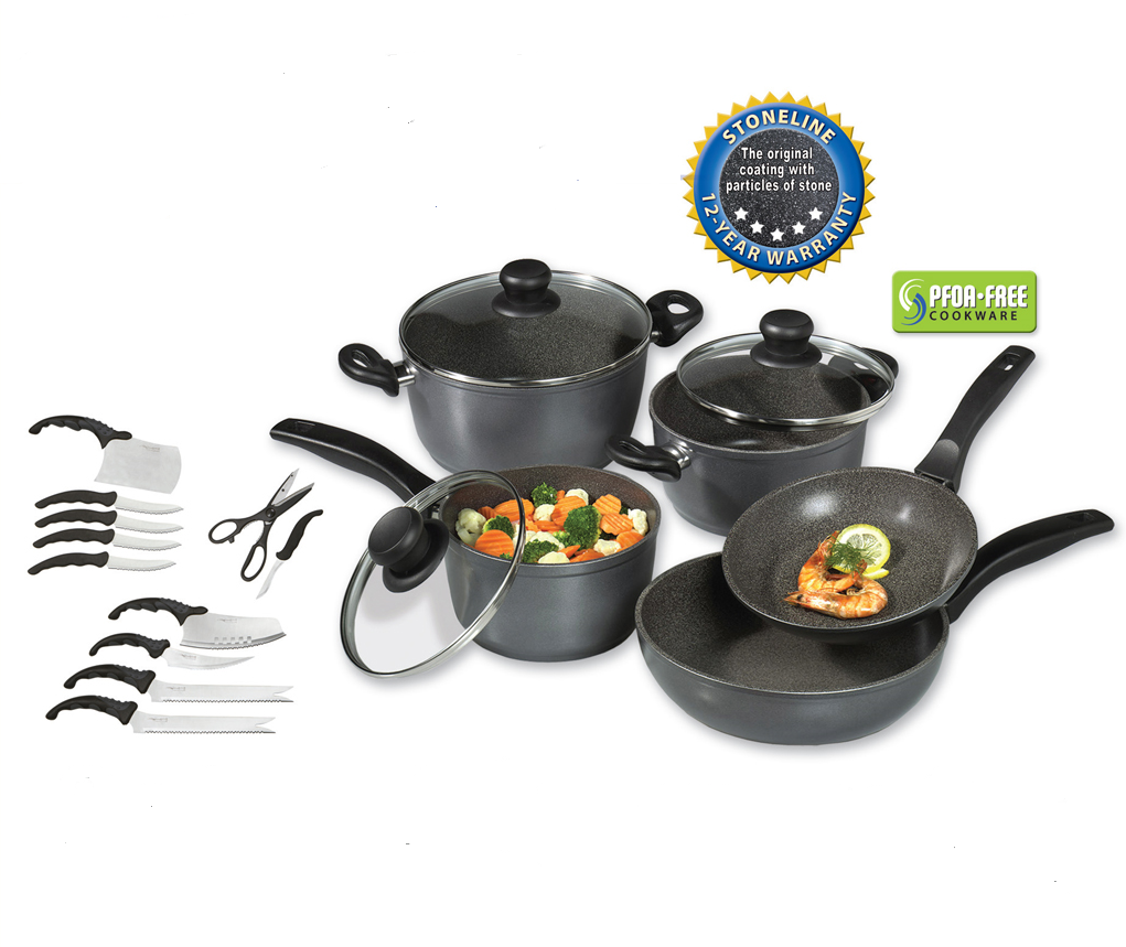 Stoneline With Images Cooking Stone Cooking Set Cookware Set