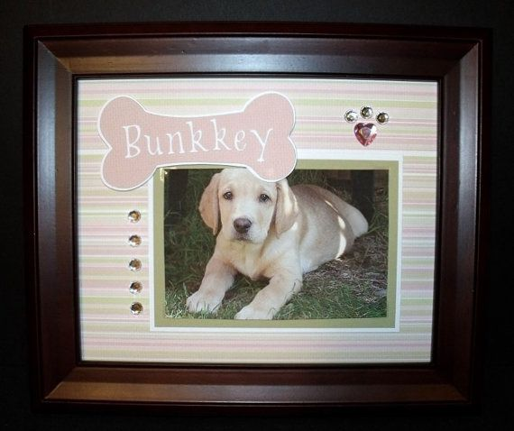 Personalized Dog Picture Frame 8x10 Dog by memoreasykeepsakes | cool ...