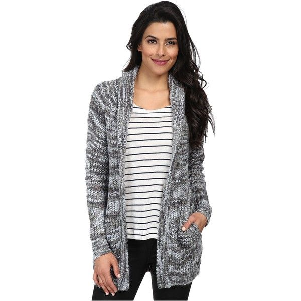 Obey Pike Cardigan Sweater Women's Sweater, Gray ($48) ❤ liked on ...
