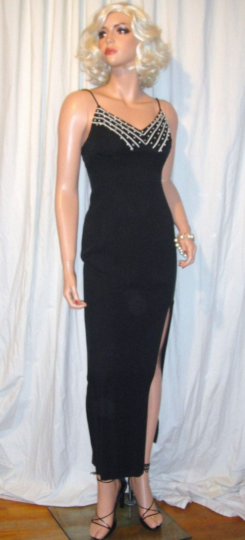 Vintage Jessica McClintock Gunne Sax Black Dress 3/4 by FilisVintage ...
