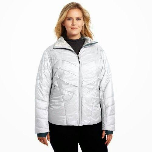 Cassy womens white ski jacket