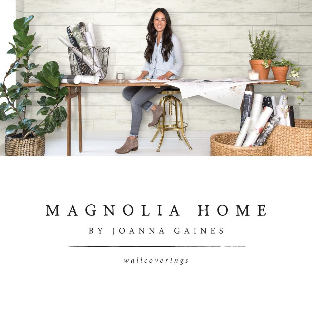 Magnolia Home By Joanna Gaines Shiplap Paper Strippable Roll Wallpaper Covers 56 Sq Ft Mh1560 The Home Depot In 2021 Magnolia Homes Joanna Gaines Wall Planks