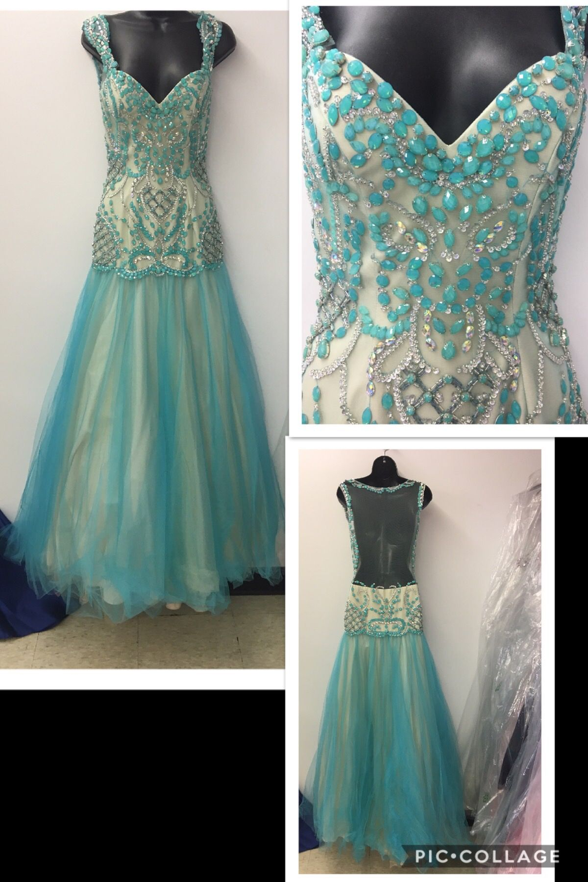 The Beading & Design on this gown is AMAZING!!! New With Tags ...