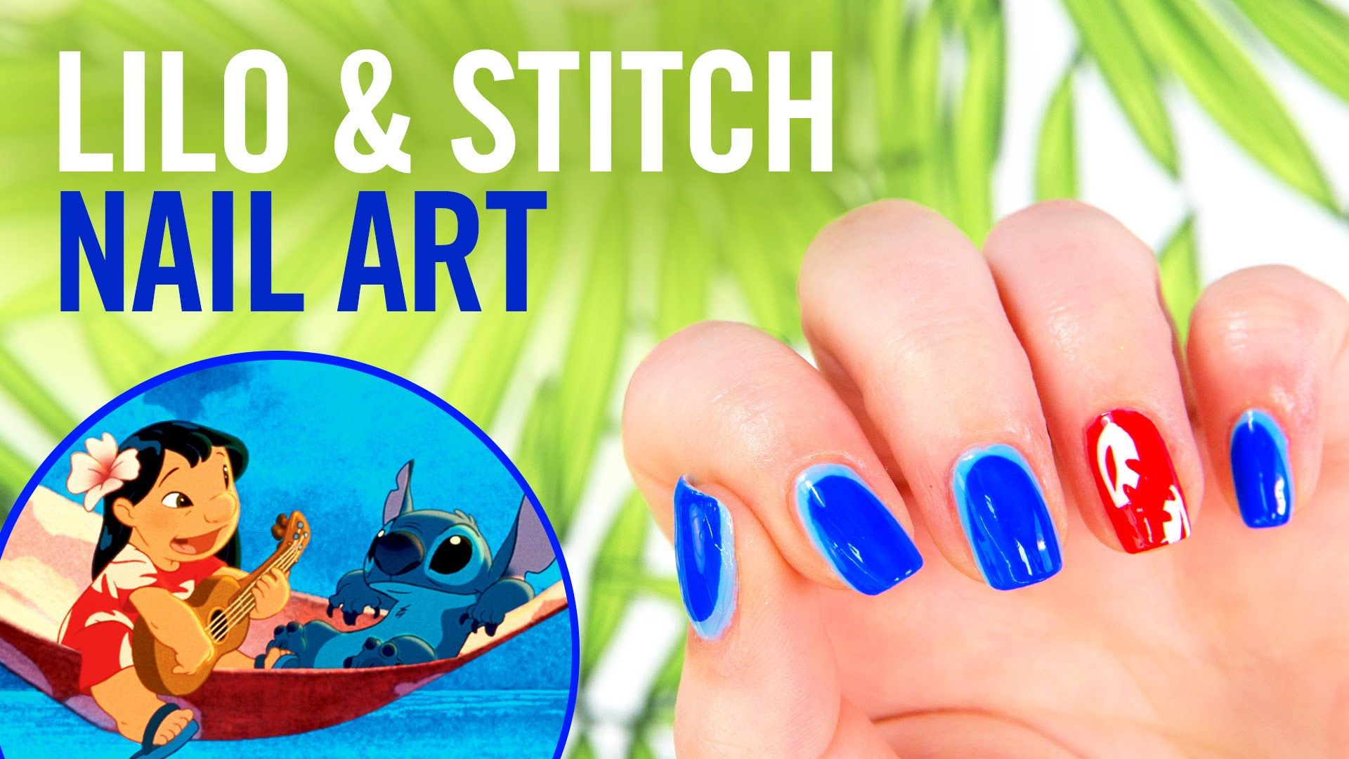 Lilo Stitch Nail Art Tutorial Disney Style Beauty Pinterest