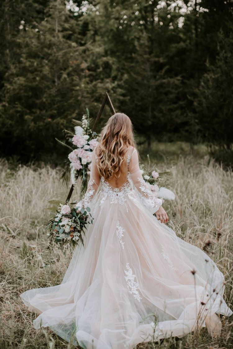 Millennial Pink Wedding Dresses Are The Prettiest Bridal Trend Of 2017 Gowns Pink Wedding Dresses Beautiful Dresses