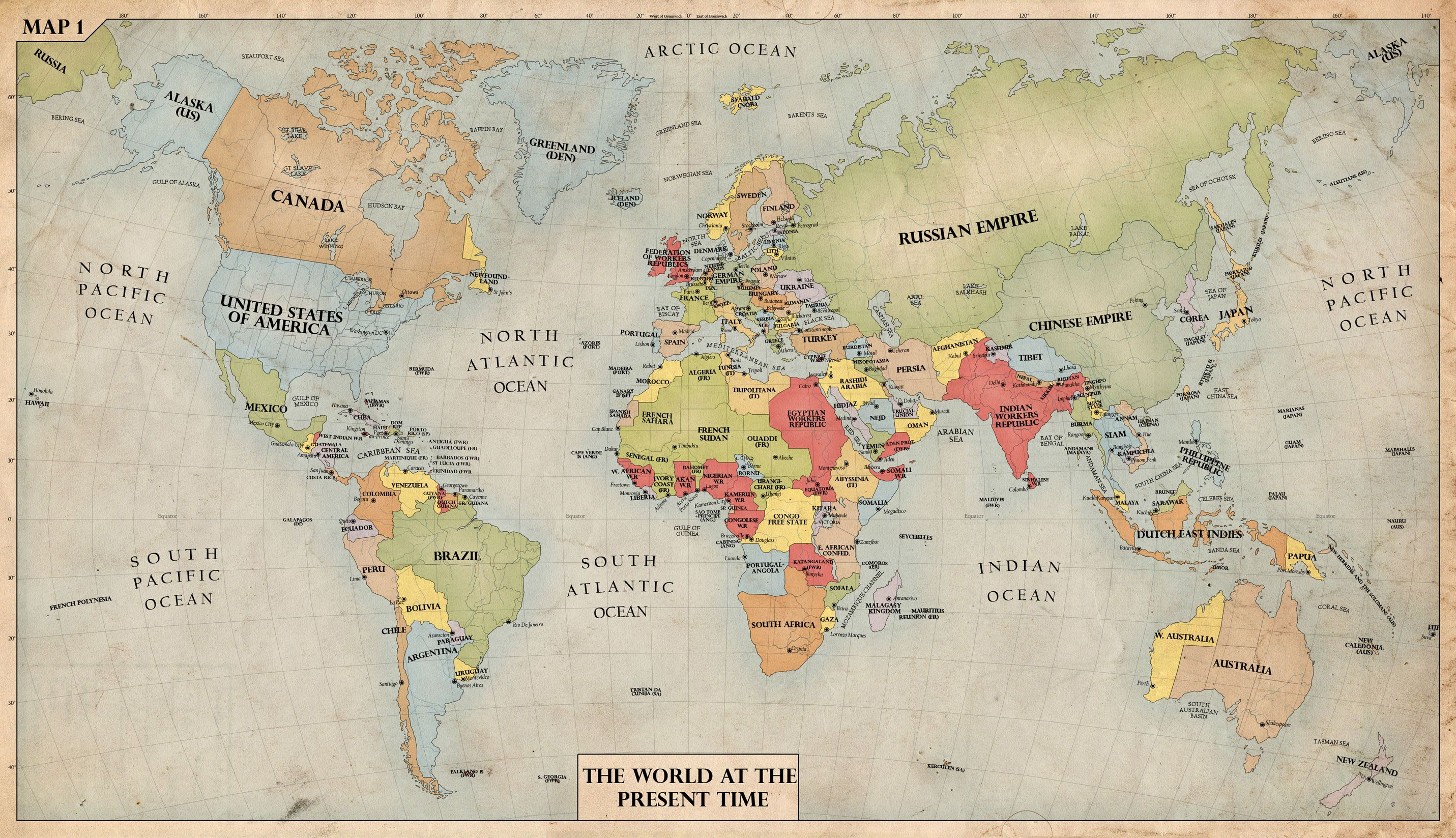 Awesome World Map 1940 1 | Fashion man | Middle east ...