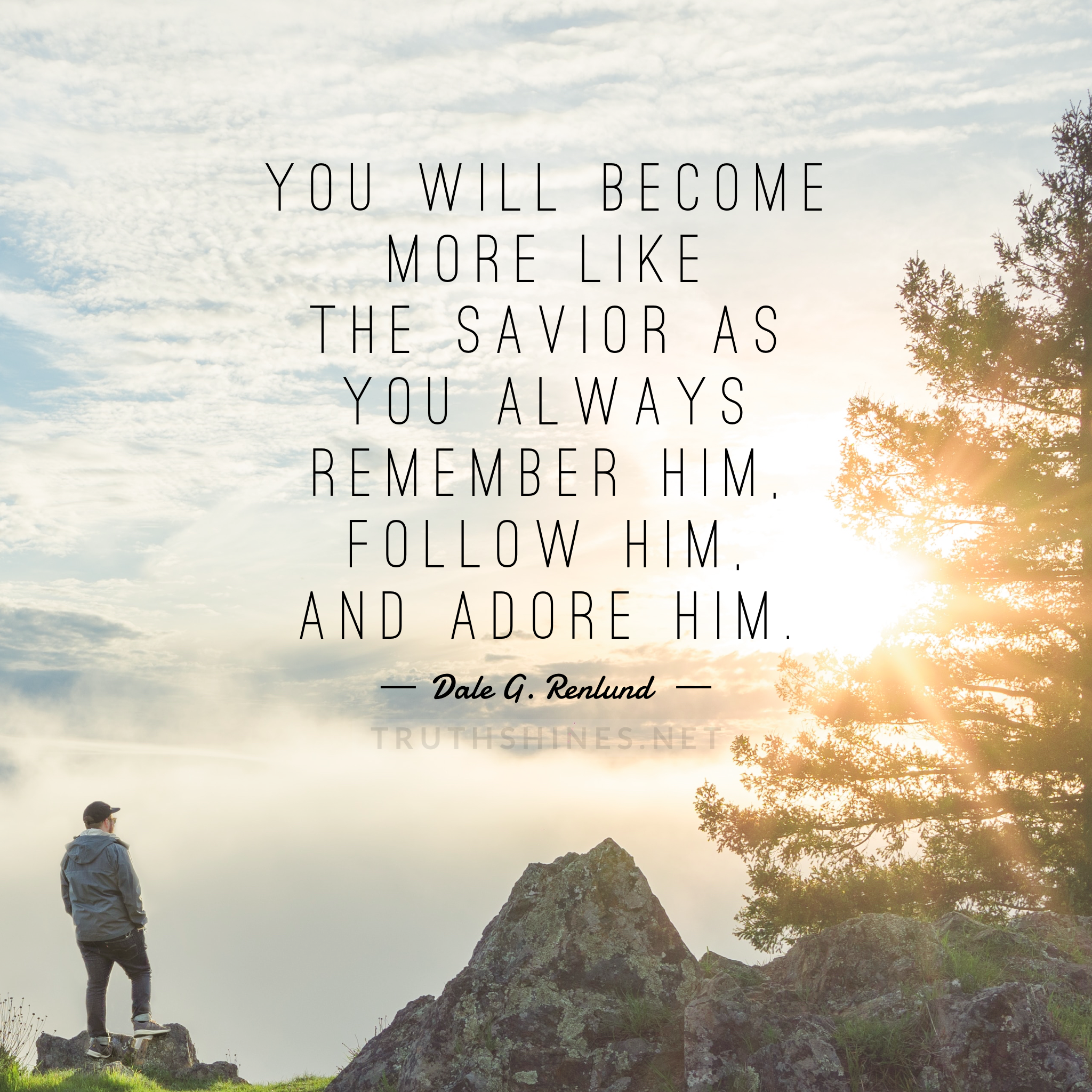 You will more like the Savior as you always