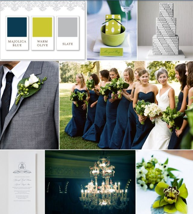 Novelty Navy Blue Olive Green Slate Wedding Theme Colors Hy Huesday Chartreuse Color Palette And