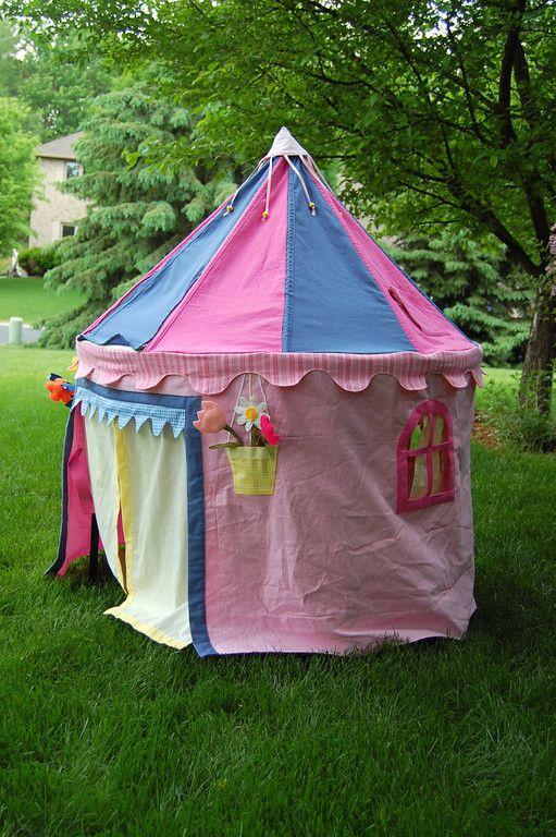 sweet castle tabletop tent