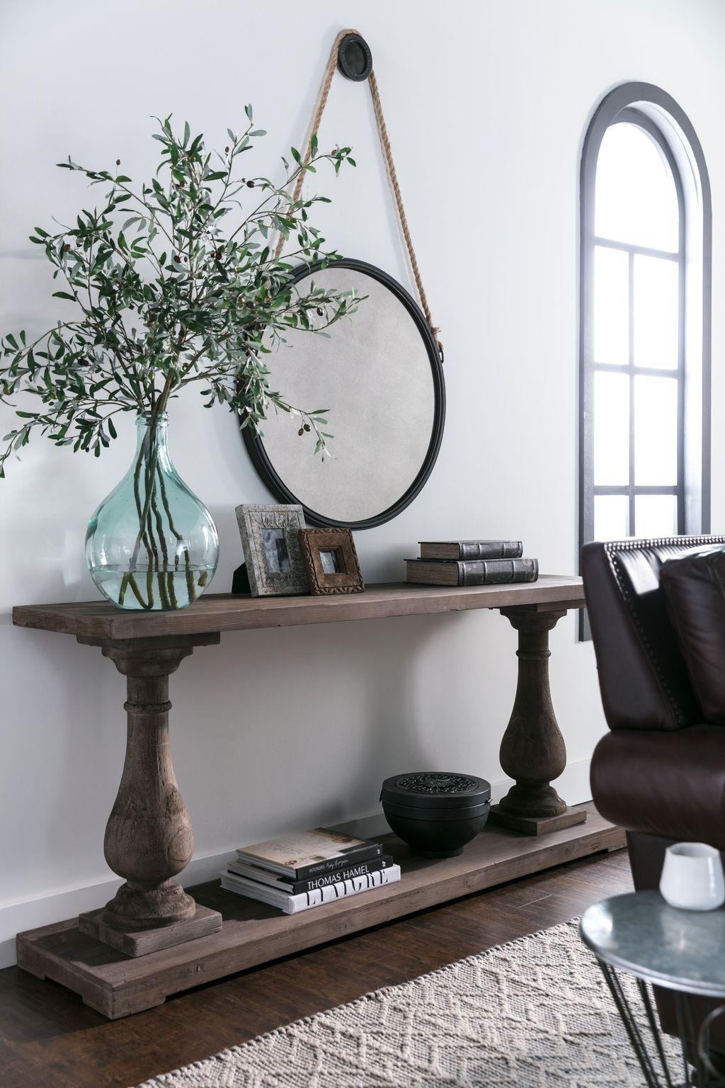 50 Inspiring Console Table Ideas Homyhomee Sofa Table Decor Living Room Decor Decor