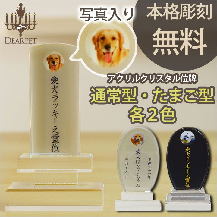Dearpet Rakuten Global Market Acrylic Crystal Engraving Free Cute Mini Tablets Pet Memorial Memorial Real Cats And Dogs 49 Ninth Loss Photo Deceased ペット 可愛い