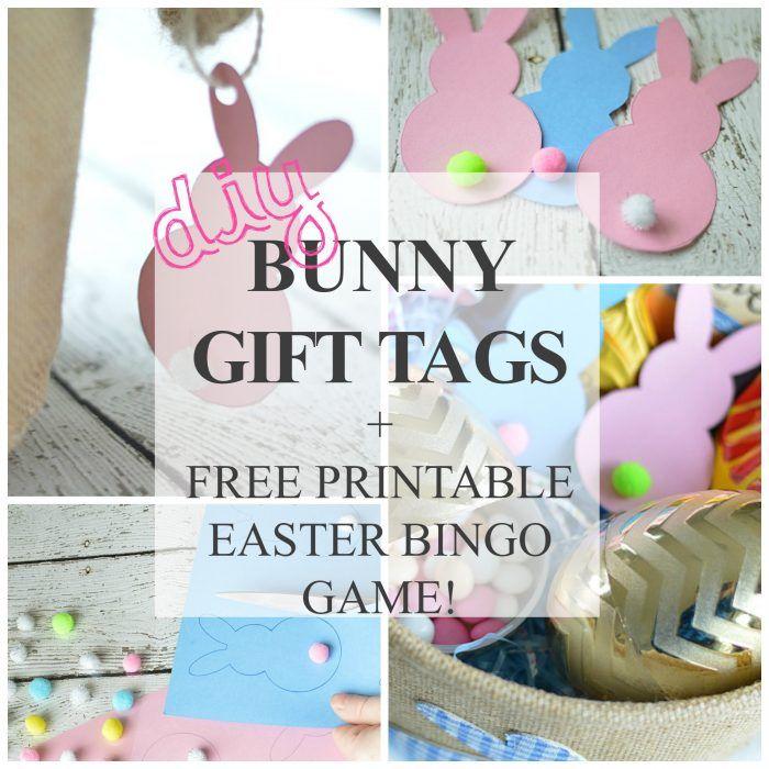 Free printable easter bunny gift tags printable game easter free printable easter bunny gift tags printable game easter bingo free printable and bunny negle Image collections