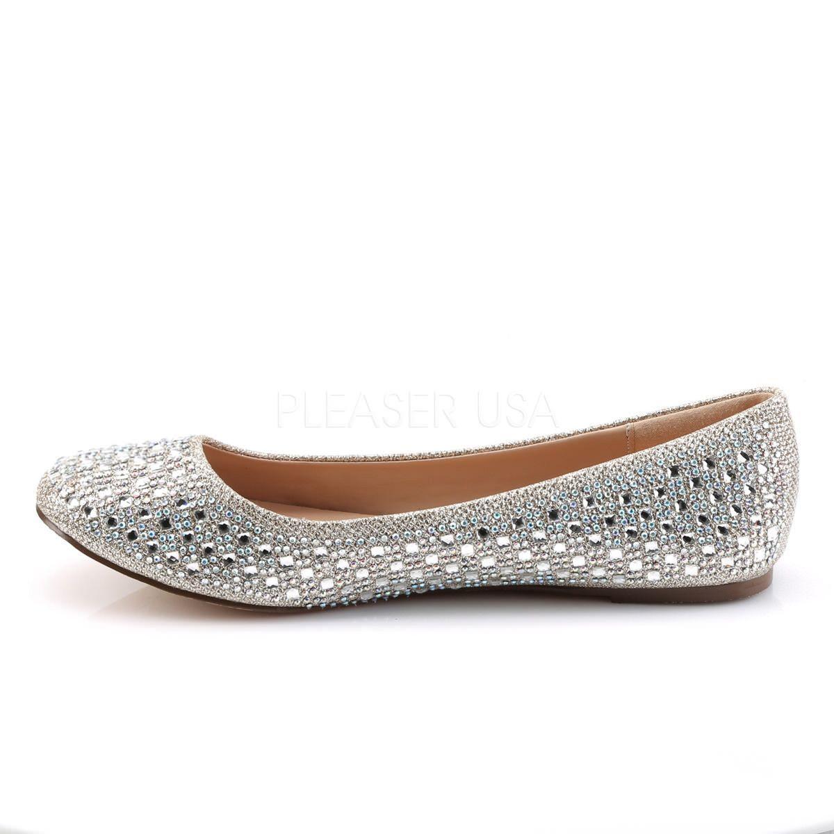 Brand New Women/'s Glitter Rhinestone Ballerina Ballet Flats Size 6-10