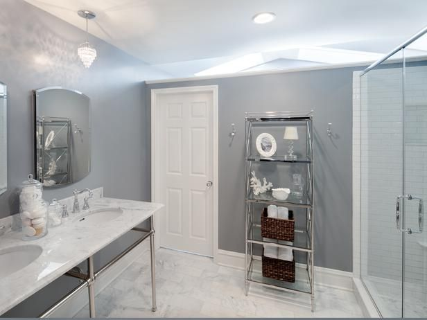 Gray Walls Against Carrera Marble Beautiful Http Www Hgtv Com