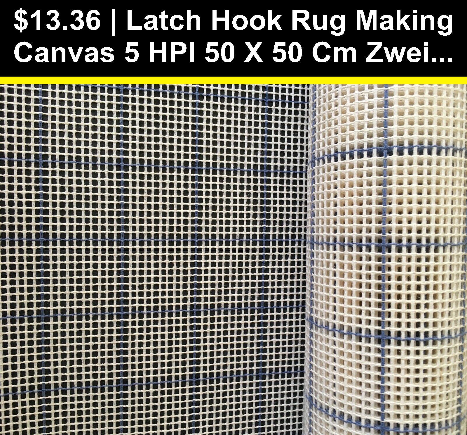 Zweigart soft interlock Rug Making Tapestry Canvas 7.5 HPI  28cm wide x 28cm